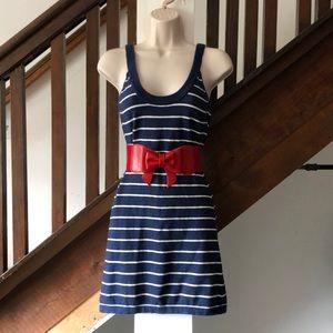 Vintage BB Dakota navy stripe sheath dress